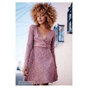 UO Coraline Cozy Wrap Dress